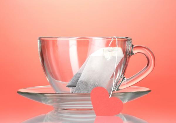 Декоративный конверт для чайного пакетика на День Валентина