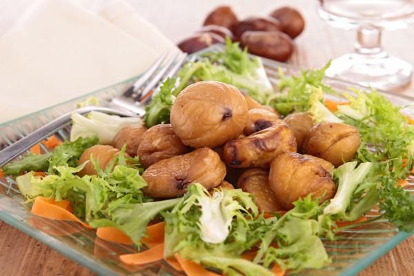 Рецепт                  Осенний салат из каштанов
