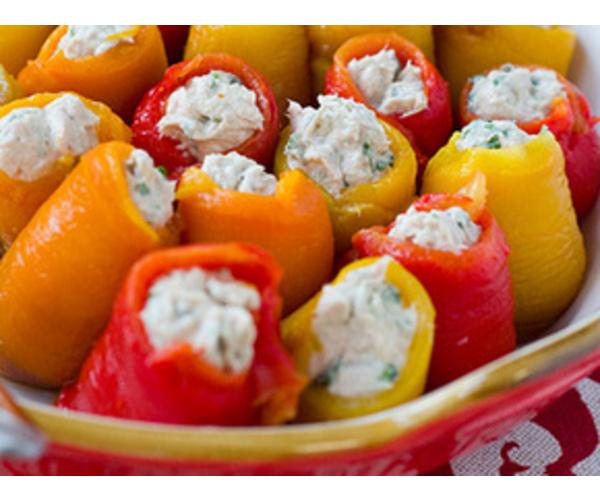 Рецепт                  Рулетики из запеченных перцев