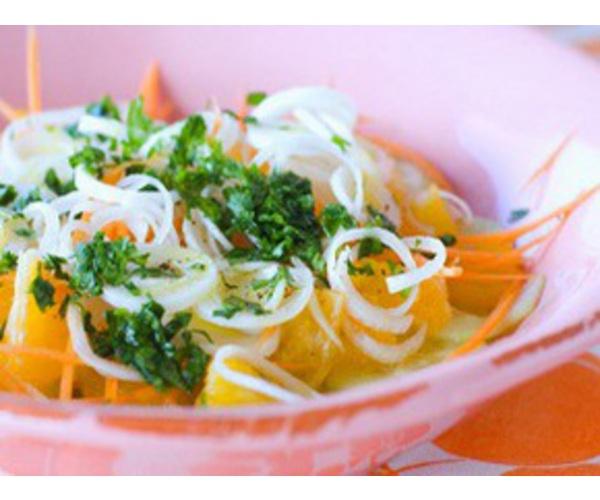 Рецепт                  Салат из огурцов и апельсинов