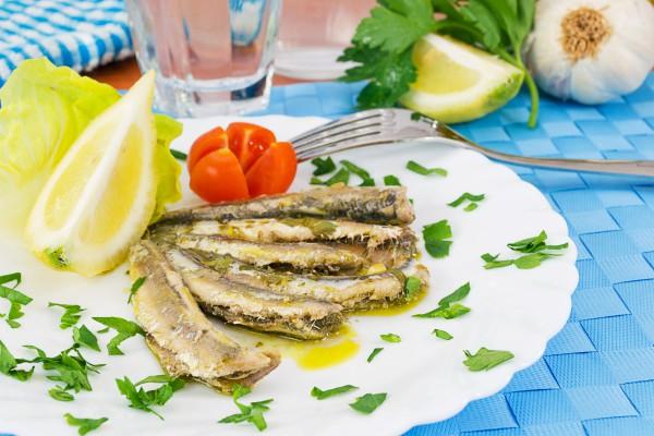 Рецепт                  Запеченные сардины в чесночном соусе