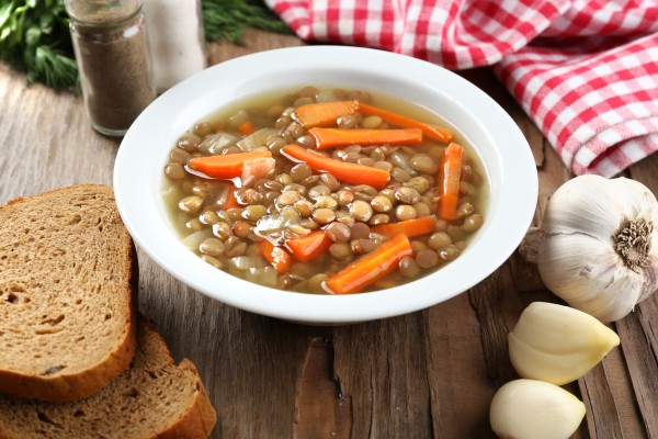 Рецепт                  Великий пост 2015: Овощной суп с чечевицей