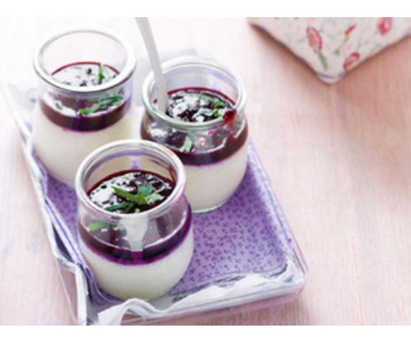 Рецепт                  Йогуртово-черничная панна кота