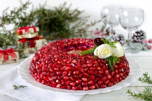 Рецепт                  Рецепты на Новый год: Салат Гранатовый браслет