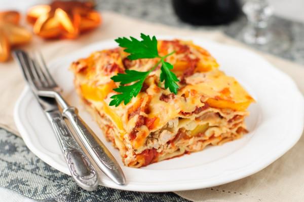 Рецепт                  Лазанья с кабачками и морковью
