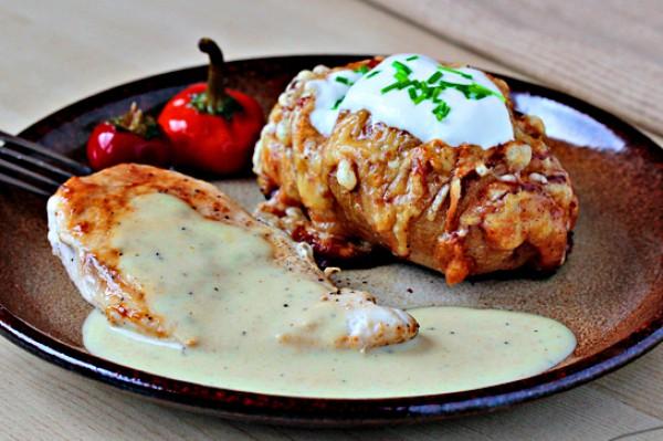 Рецепт                  Запеченный картофель с чесноком и сыром