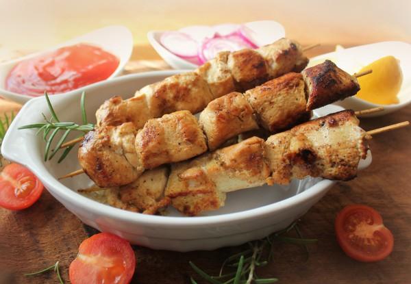 Рецепт                  Шашлык из курицы с лимоном