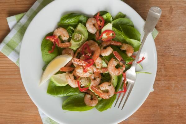 Рецепт                  Новогодние рецепты: Салат из креветок и авокадо