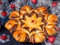 Как приготовить новогодний пирог в виде снежинки