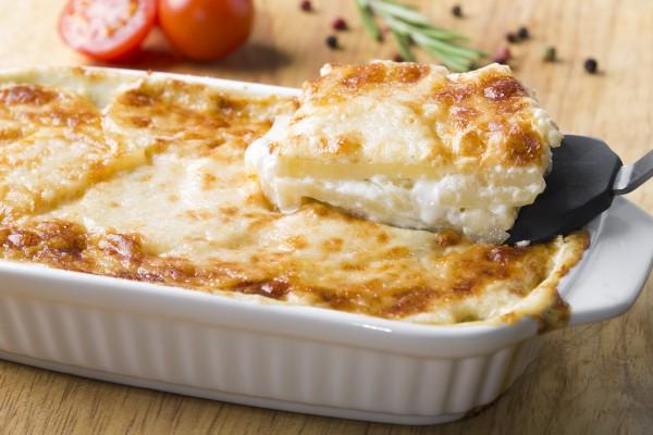 Рецепт                  Картофельная запеканка с творогом