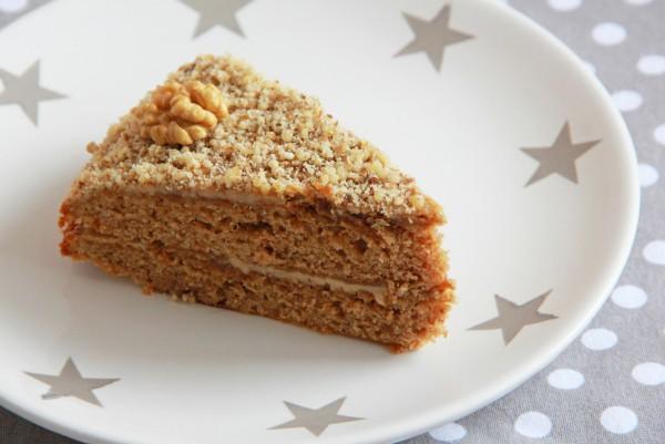 Рецепт                  Торт на Новый год кофейно-ореховый