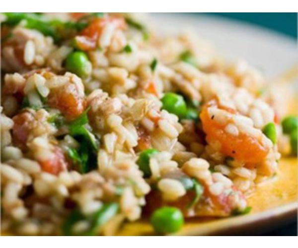 Рецепт                  Ризотто с куриным филе и овощным миксом