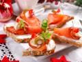 Блюда на Новый год: Канапе с лососем