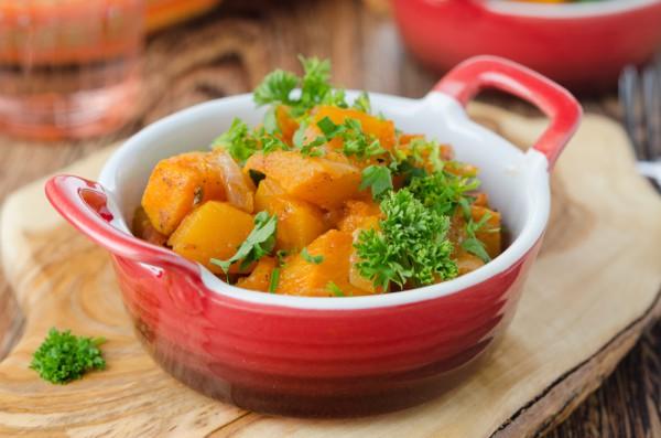 Рецепт                  Тыква с томатным соусом