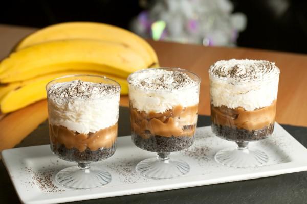 Рецепт                  Трайфл с бананами и сливочным ликером