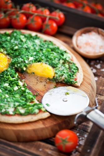 Рецепт                  Пицца по-флорентийски