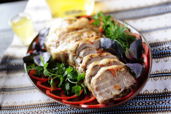 Рецепт                  Буженина с горчицей и чесноком