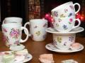 Сделай своими руками: Узор на белом чайном сервизе