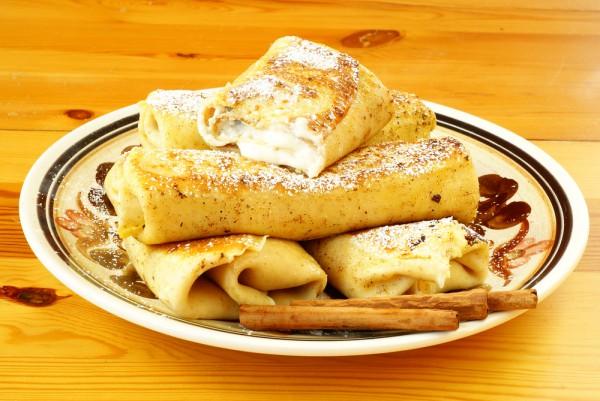 Рецепт                  Масленица 2015: Блины с творогом и корицей