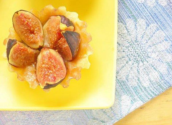 Рецепт                  Песочные корзиночки с инжиром