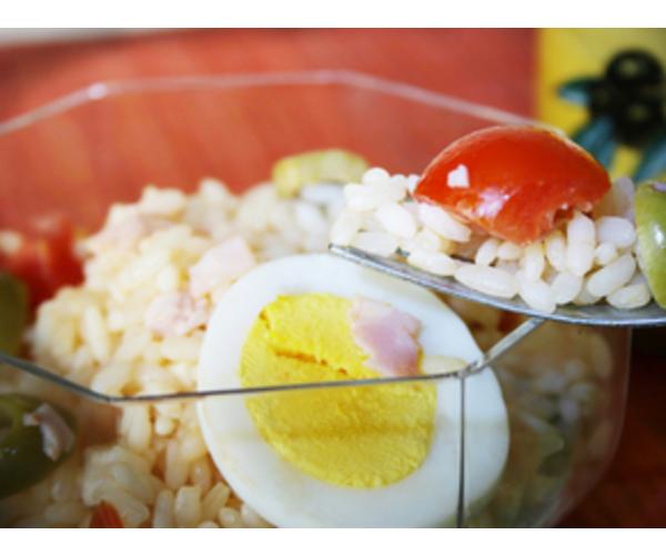 Рецепт                  Рисовый салат с овощами и яйцом