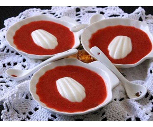 Рецепт                  Ванильные ракушки с клубничным соусом