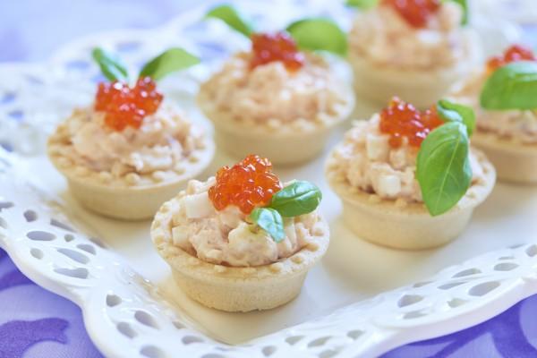Рецепт                  Новогодние рецепты: Тарталетки с печенью трески