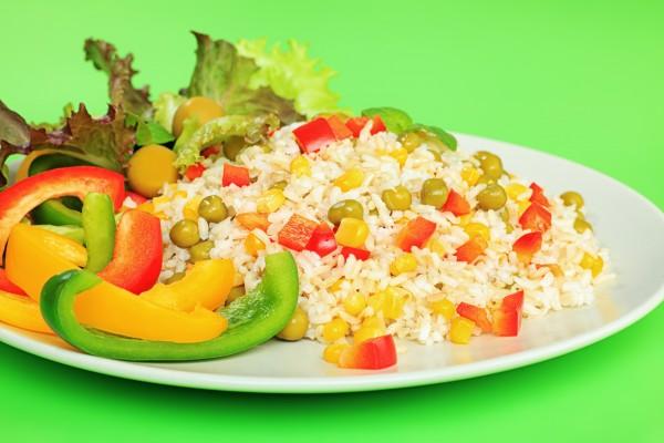 Рецепт                  Постный рис с овощной смесью