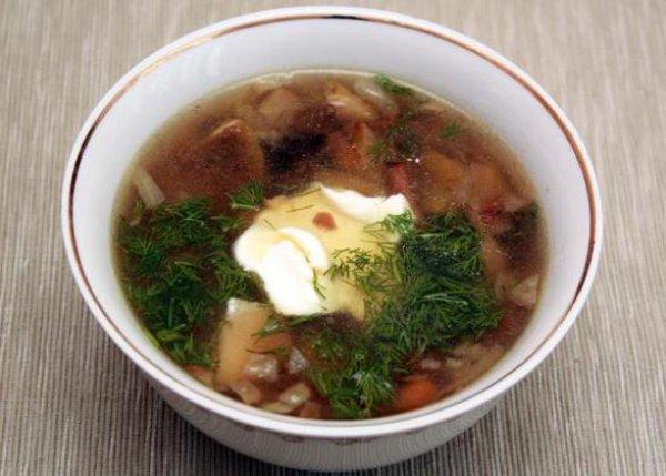 Рецепт                  Суп из лесных грибов: Рецепт приготовления