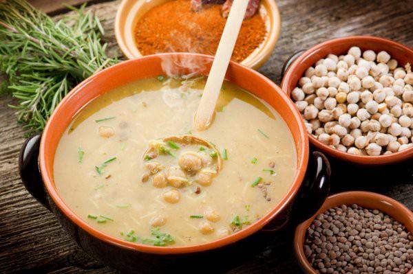 Рецепт                  Суп из телятины с горохом нут