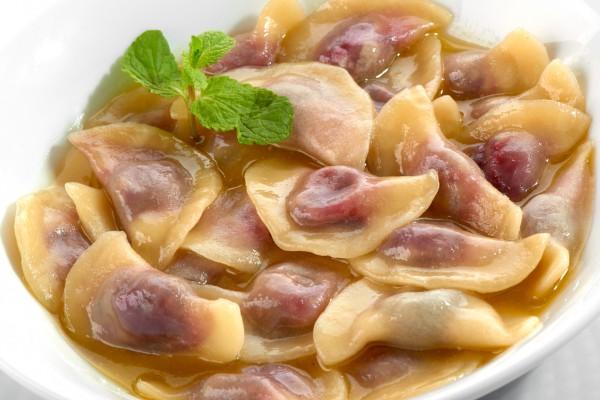 Рецепт                  Постные рецепты: Вареники с вишней