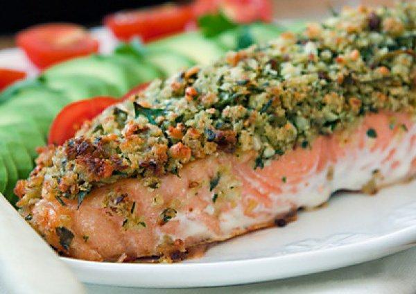Рецепт                  Запеченный лосось под сырной корочкой