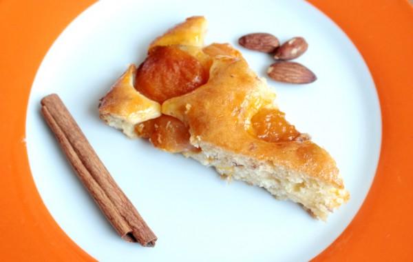 Рецепт                  Пирог с консервированными абрикосами