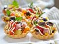 Новогодний салат в тарталетках