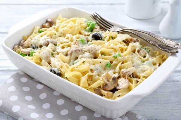 Рецепт                  Запеканка из макарон с грибами и сыром