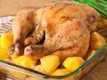 Запеченная курица с картофелем и лимоном