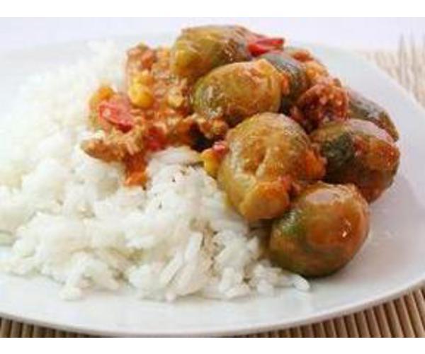 Рецепт                  Брюссельская капуста с овощами