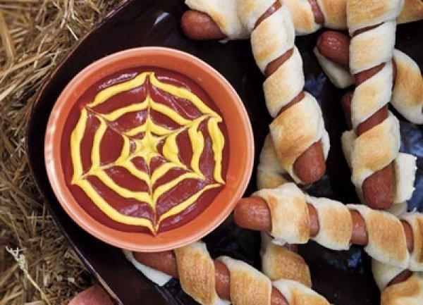 Рецепт                  Сосиски-мумии на Хэллоуин