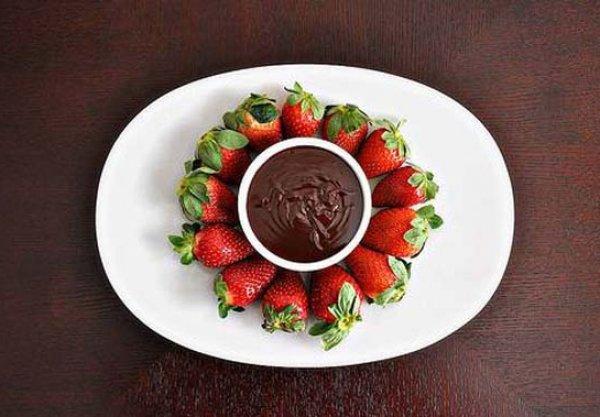 Рецепт                  Шоколадное фондю-фламбе для зажигательного вечера