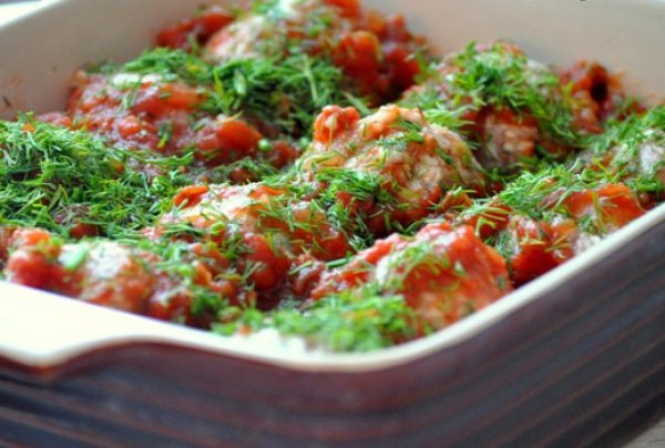 Рецепт                  Ленивые голубцы в томатном соусе