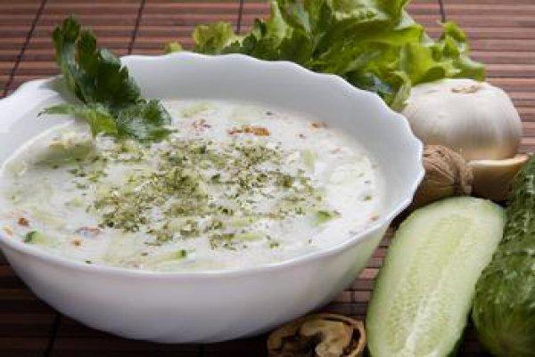 Рецепт                  Холодный огуречный суп на кефире