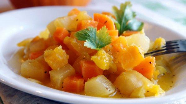 Рецепт                  Зимнее овощное рагу в индийском стиле