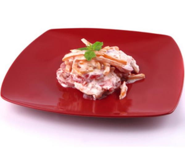 Рецепт                  Томатный салат с перцем