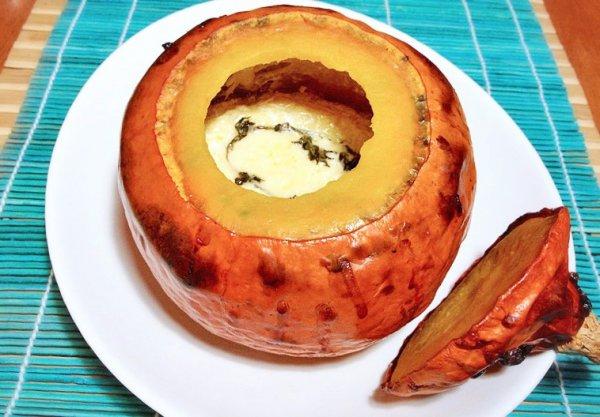 Рецепт                  Запеченная тыква с сыром