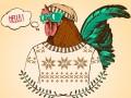 Небанальные открытки на Новый год Петуха