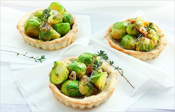 Рецепт                  Тарталетки с брюссельской капустой для вегетарианцев