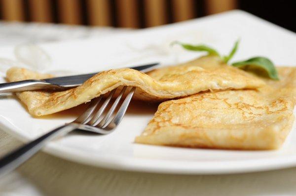 Рецепт                  Французские крепы с тремя видами сыра