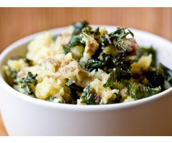 Рецепт                  Картофельное пюре по-ирландски с капустой