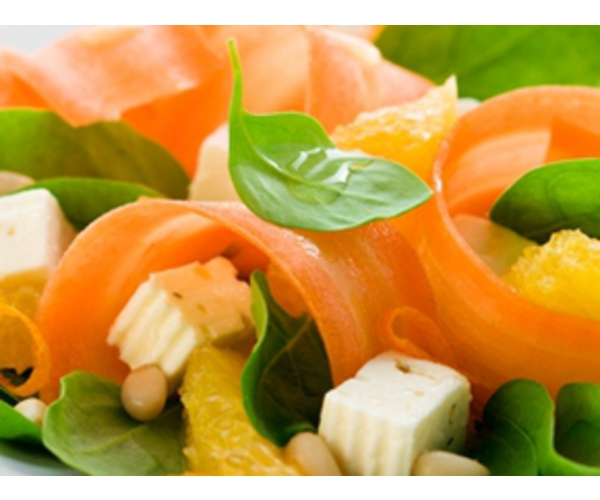 Рецепт                  Салат с морковью и шпинатом
