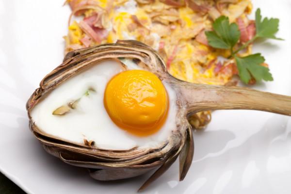 Рецепт                  Запеченные артишоки с яйцом